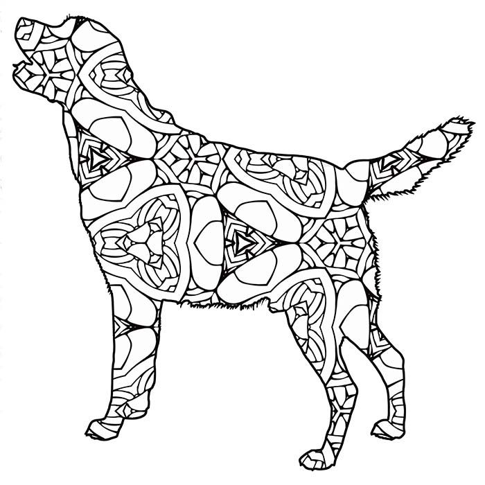30 Free Printable Geometric Animal Coloring Pages The Cottage Market Dog Coloring Book Animal Coloring Pages Animal Coloring Books