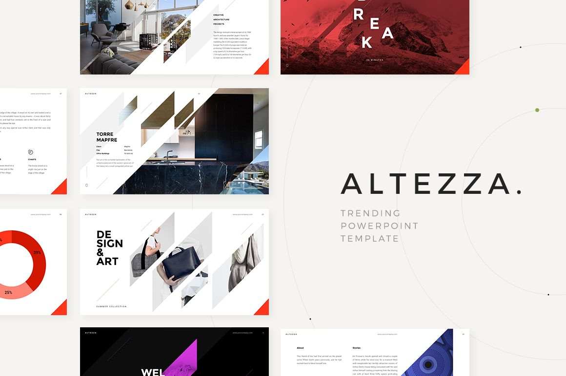 Altezza Powerpoint Template By Dimaisakov On Creativemarket