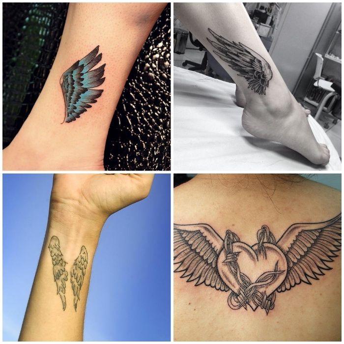 ▷ 1001 + coole und inspirierende Flügel Tattoo Designs und ihre ...