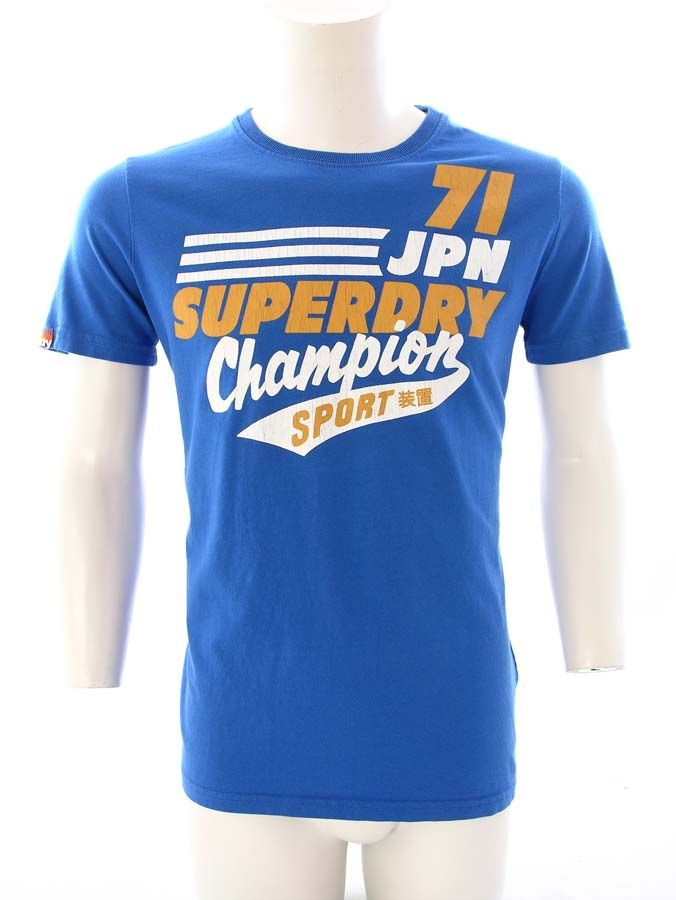 a929465ecfef15 Superdry 70 s State T-Shirt Royal Blue