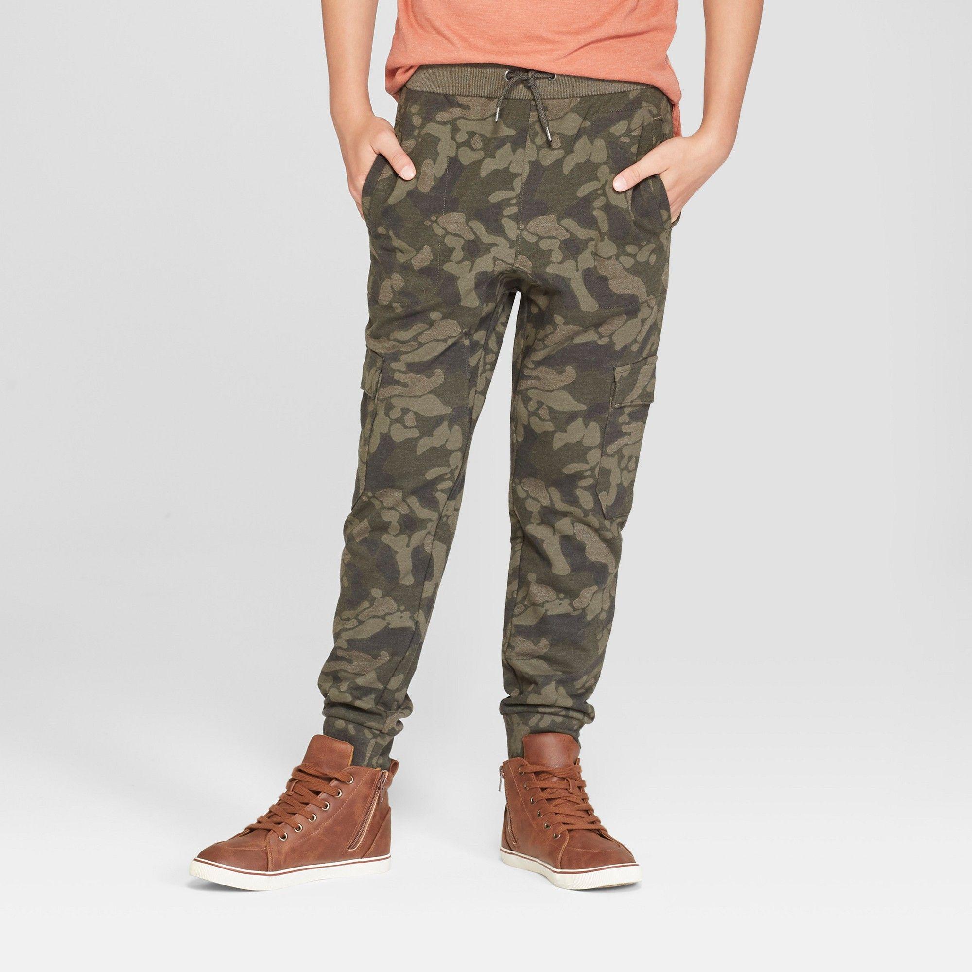 b7a9bdf695a Boys  Jogger Pants - Cat   Jack Olive Green Xxl Husky