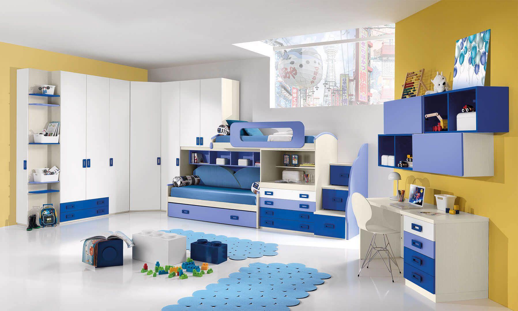 Ikea O Mondo Convenienza choose bright & vibrant colors - kids bedroom decorating