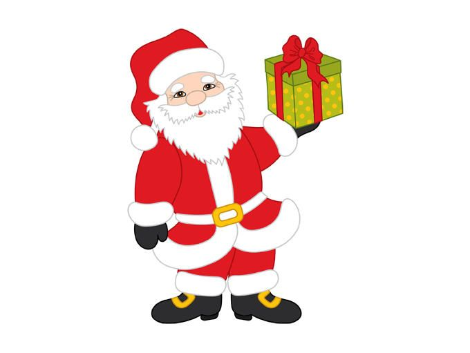 Santa Claus With Christmas Gifts Pop Art Illustration Retro Vector Illustration Illustration Artwork Inspiration