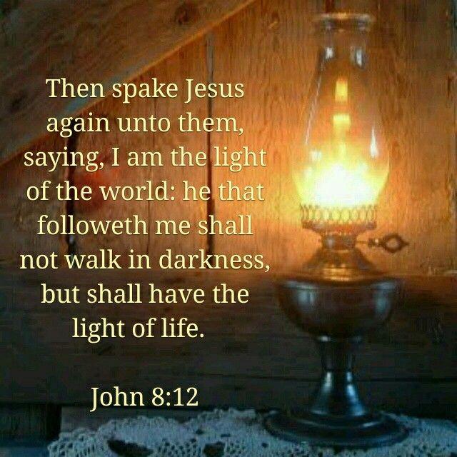 John 8:12 KJV | Bible encouragement, Kjv, Bible scriptures