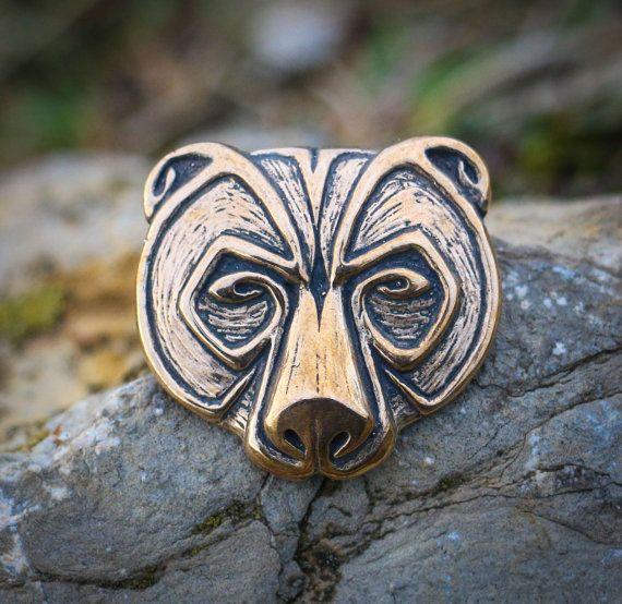 ursus bear head pendant bronze jewel necklace pagan celtic viking norse jewelry jewellery native. Black Bedroom Furniture Sets. Home Design Ideas