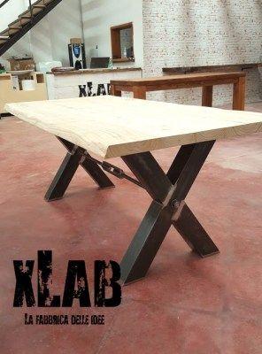 Tavolo X-Table design italiano fatto a mano 200x90x75 ...