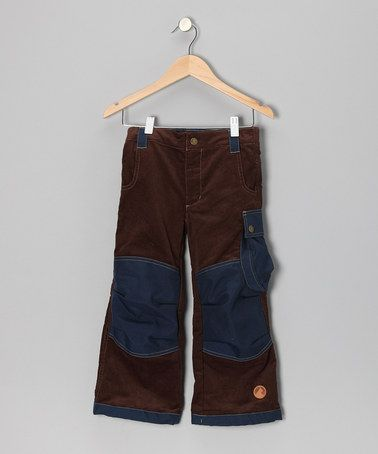 Brown & Navy Tomppa Pants by finkid