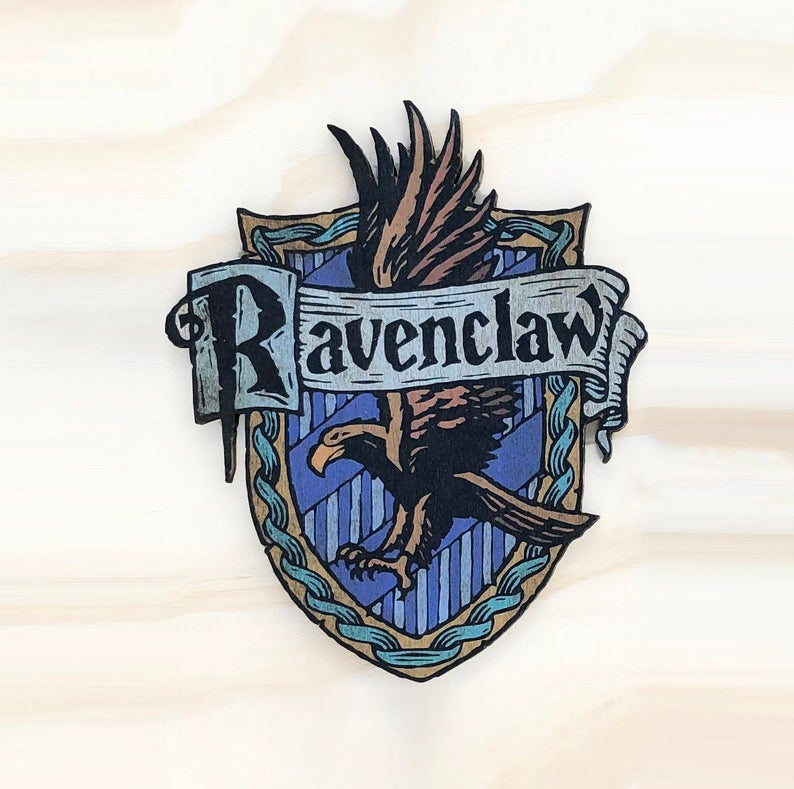 Harry Potter Inspired Ravenclaw House Crest Wooden Cutout Etsy Harry Potter Wall Decor Ravenclaw Harry Potter Crest