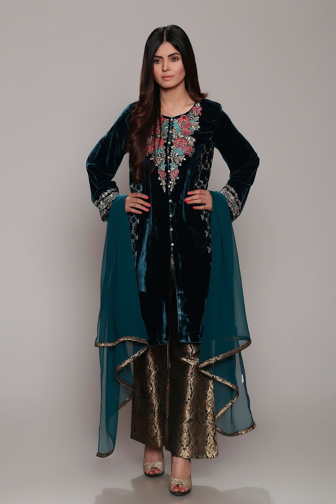 ee84242ddb Latest Women Best Winter Dresses Designs Collection 2018-19 ...