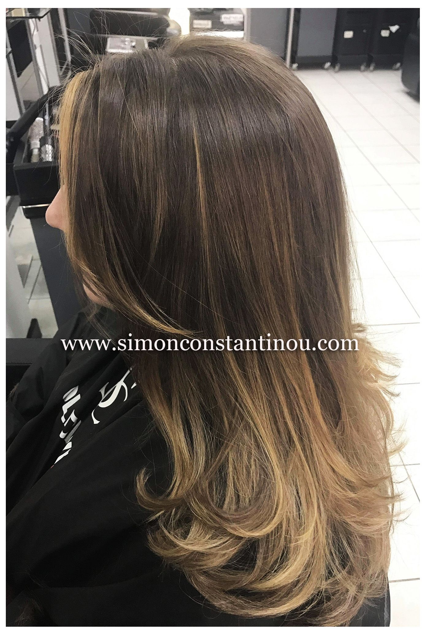 Balayage technique goldwell