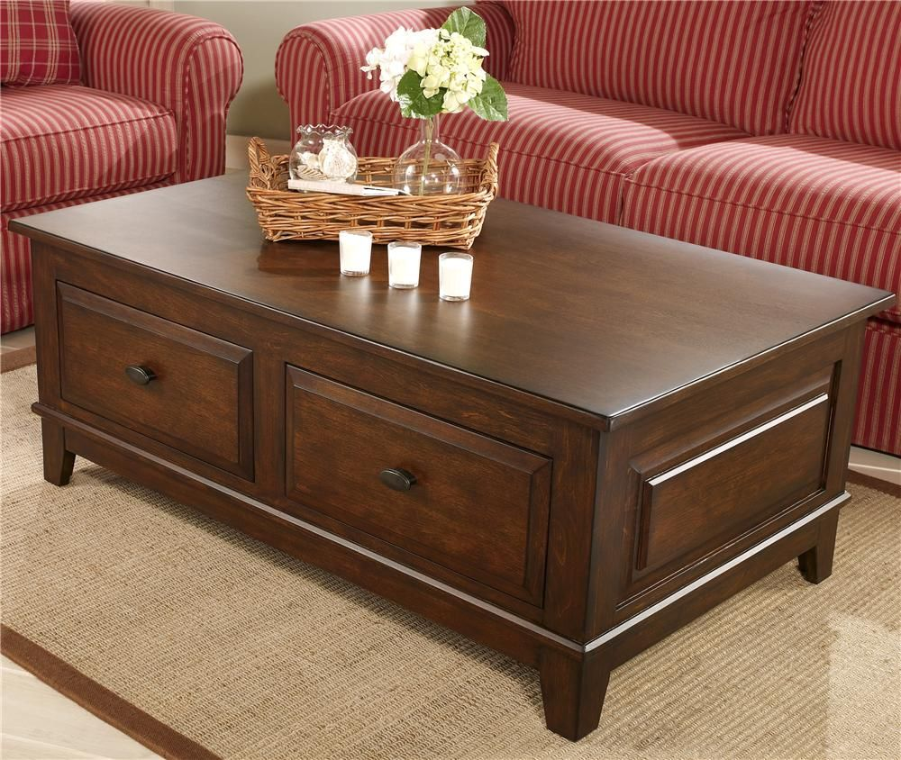 Larchmont Rectangular Coffee Table by Ashley Furniture Becks