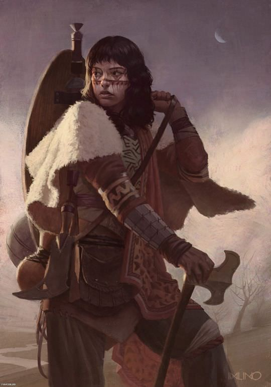 99 D&D Female Character Art Pieces (no boobplate o