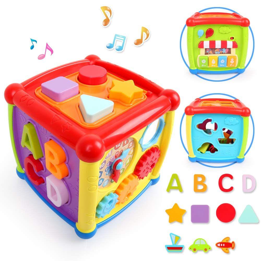 Lbla Musikspielzeug Baby Spielzeug 1 Jahr 2 Jahren Junge M Dchen Lernspielzeug Entdeckerw Rfel Mit Licht Und Musik Adventsk In 2020 Activity Cube Baby Infant Activities