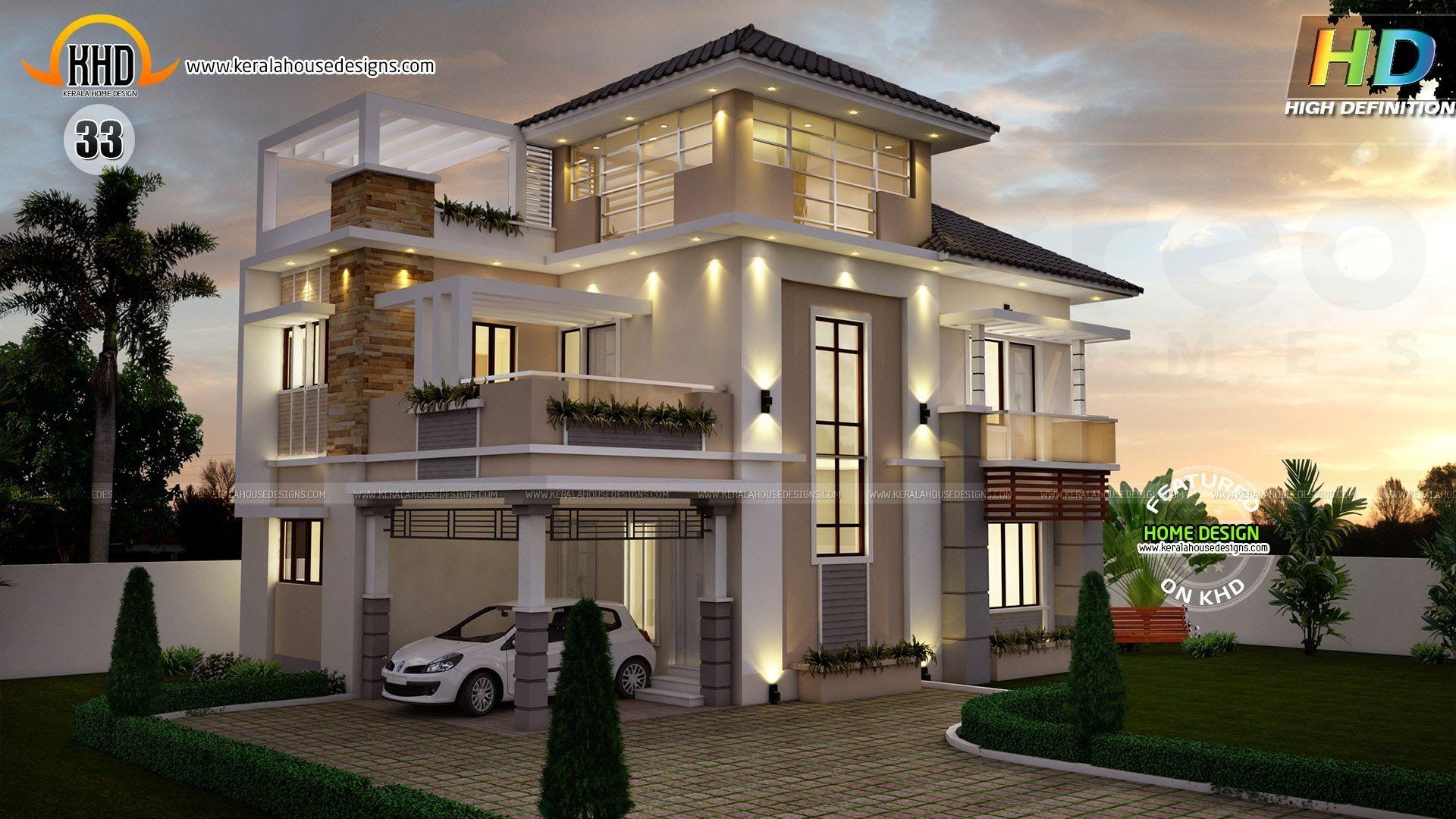 September 2014 Kerala Home Design And Floor Plans 3 Storey House Design Kerala House Design 3 Storey House