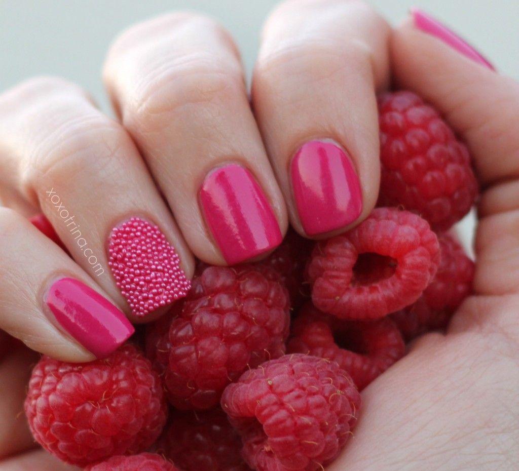 Raspberry Caviar Nails | Nails | Pinterest | Caviar nails, Caviar ...