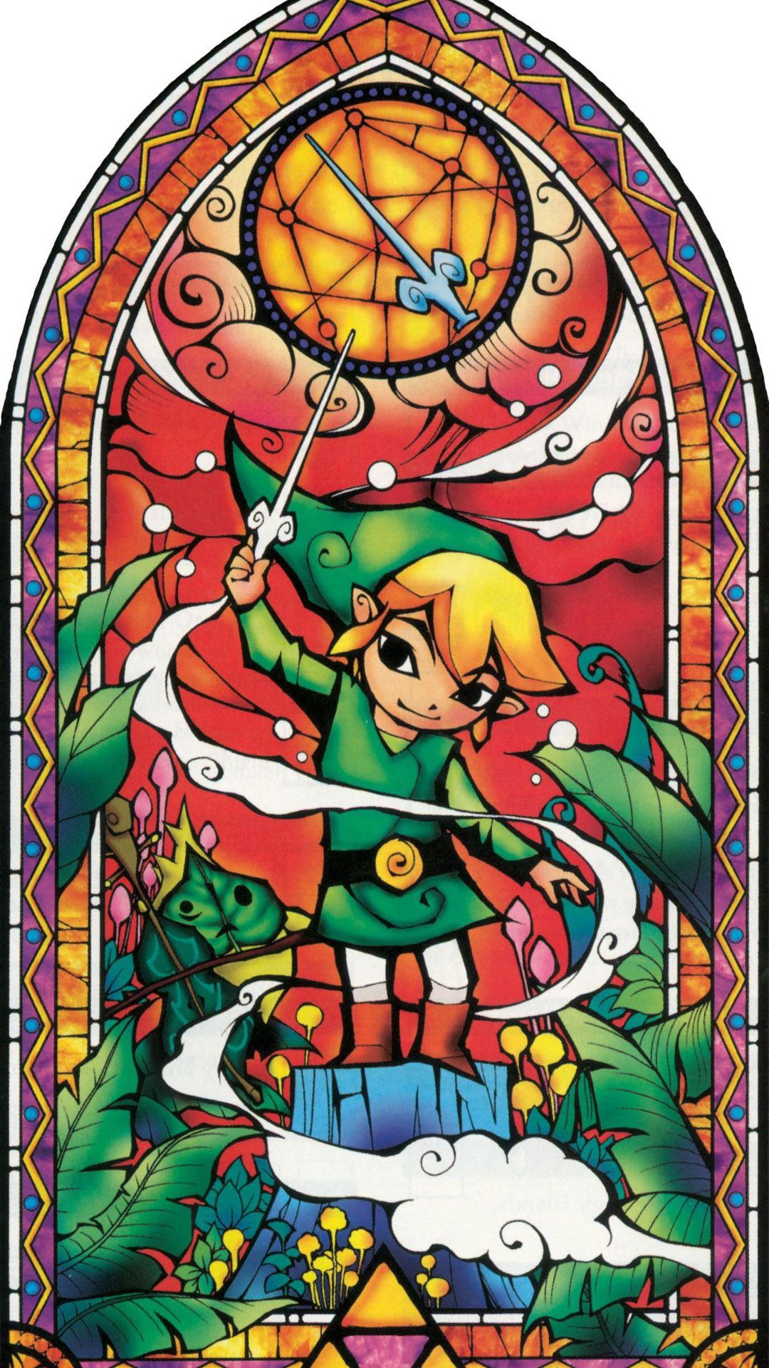 The Legend Of Zelda Mural Mobile Wallpaper Legend Of Zelda