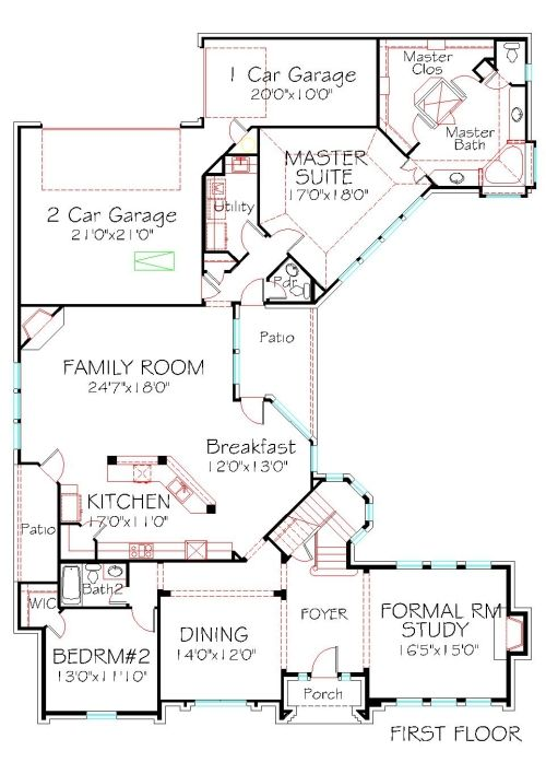 FIRST FLOOR PLAN 3316 sqft 4 BEDROOMS 3 BATH 3 CAR REAR ... on single floor plans without garage, ranch house plans with garage, townhome plans rear garage, narrow lot house plans with front garage,