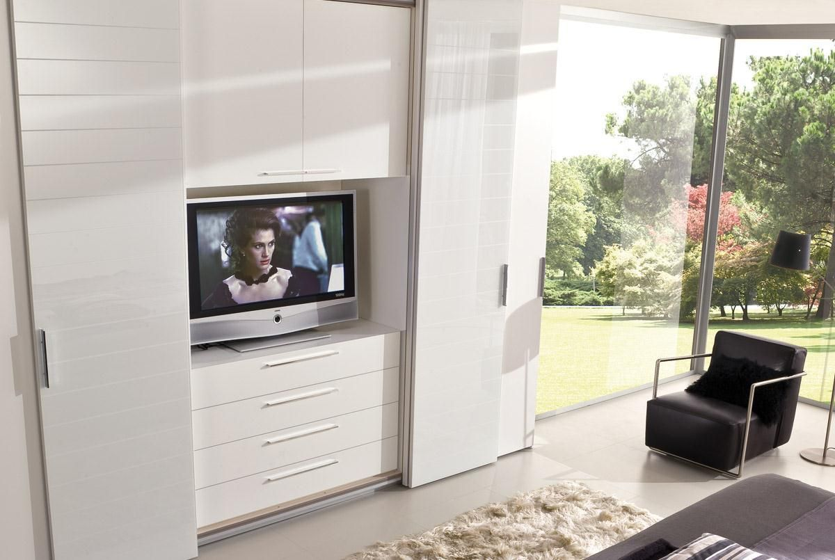 ARMADIO CON MODULO TV | Armadi | Pinterest | Modern tv wall, Tv ...