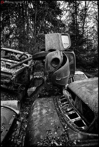 The Graveyard http://goodhal.blogspot.com/2013/03/debris-024.html #Beetle #Debris #Junkyard #Volkswagen