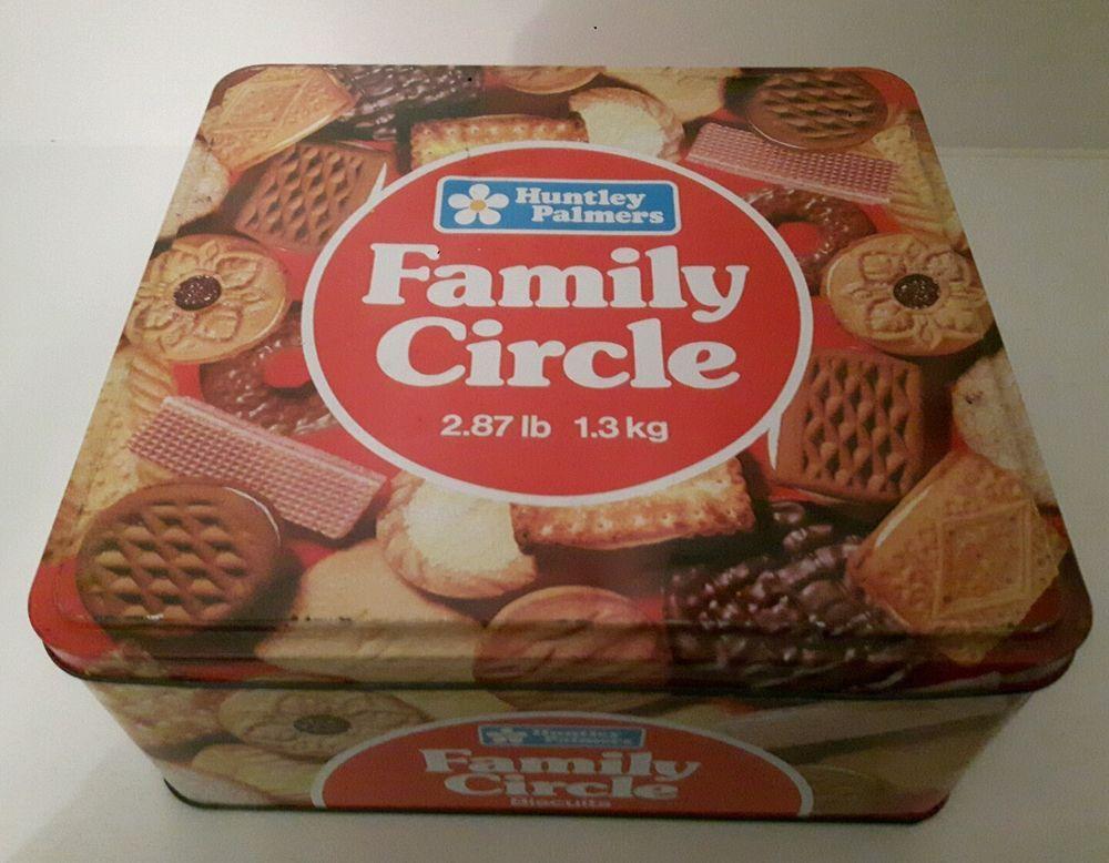 Vintage Retro Huntley U0026 Palmers Family Circle Biscuit Selection Storage Tin  | EBay