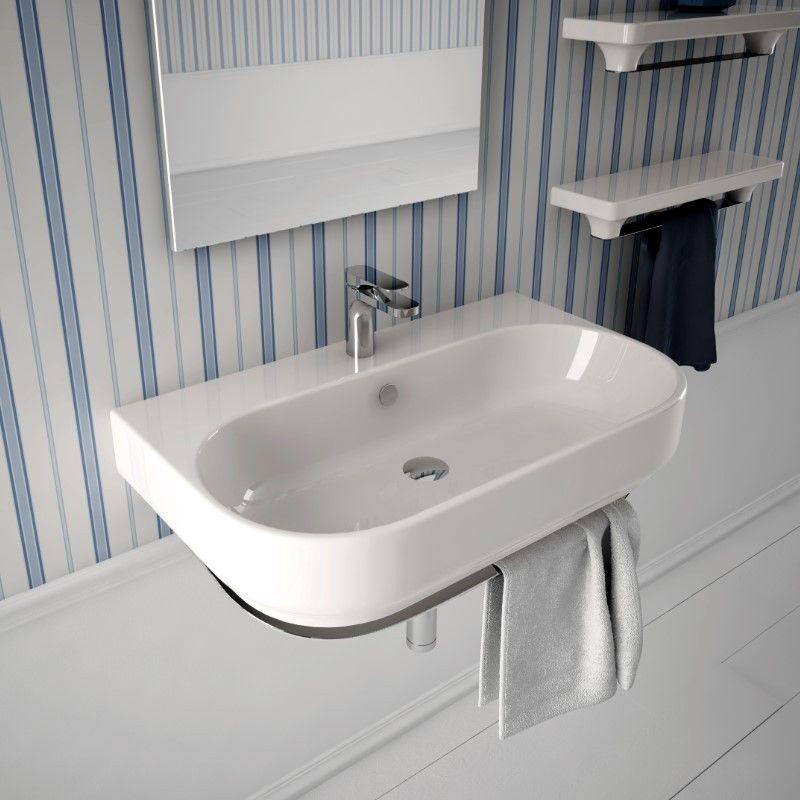 Hidra Ceramica | Waschtisch Gio | 80cm | wandhängend oder als Aufsatzwaschtisch | Design: Paolelli & Meneghello