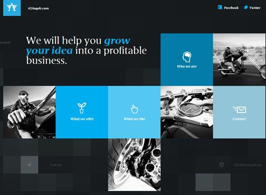 Showcase of Colorful Grid Style Website Designs | Style, Grid ...