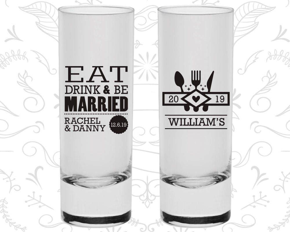 Enchanting Eat Drink And Be Married Wedding Favors Collection - The ...