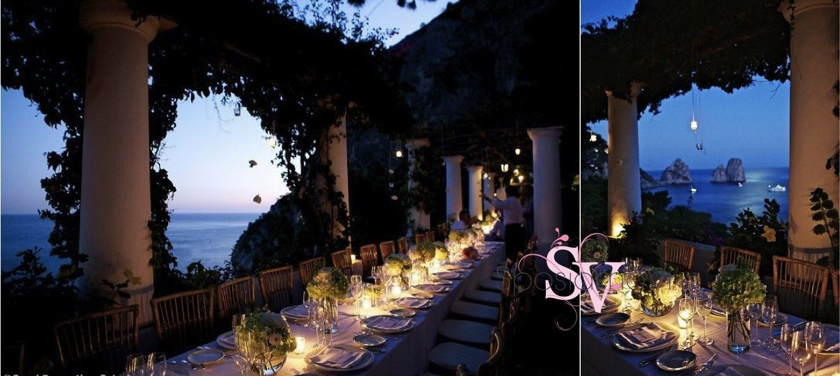 Host your wedding party in a glamourous private villa overlooking the famous Faraglioni in #Capri! Contact our Capri wedding planner at info@sposiamovi.it