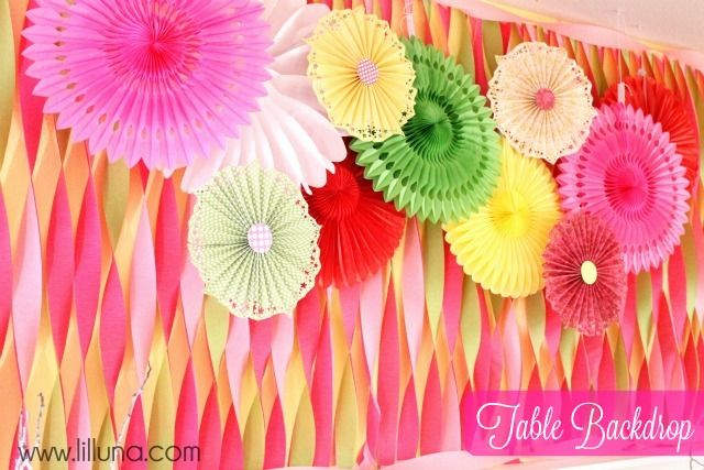 crepe paper streamers party backdrops backdrop ideas tissue paper ...