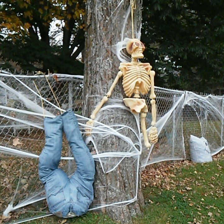 60+ Amazing Outdoor Decor Ideas For Halloween Party stuff