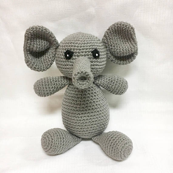 998c0bf82bd3a Baby Elephant - Baby's Toy Elephant - Baby Shower Gifts - Children's ...