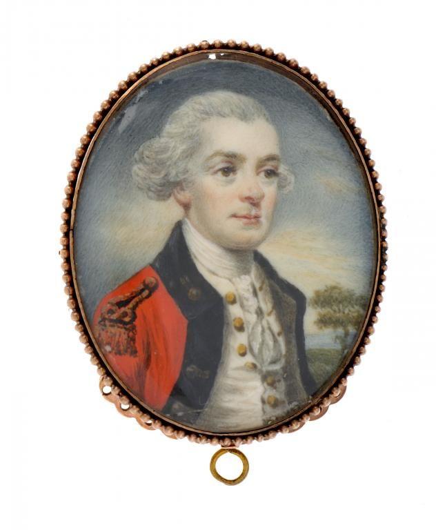 RICHARD CROSSE (1742-1810) - Portrait miniature of an officer.