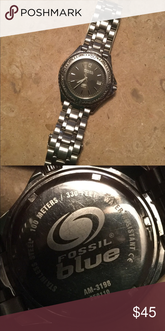 Used Men S Fossil Watch Fossil Watch Fossil Accessories Fossil
