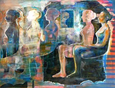 "Saatchi Online Artist Amalya  Nane Tumanian; Mixed Media, ""Coming to ..."" #art"