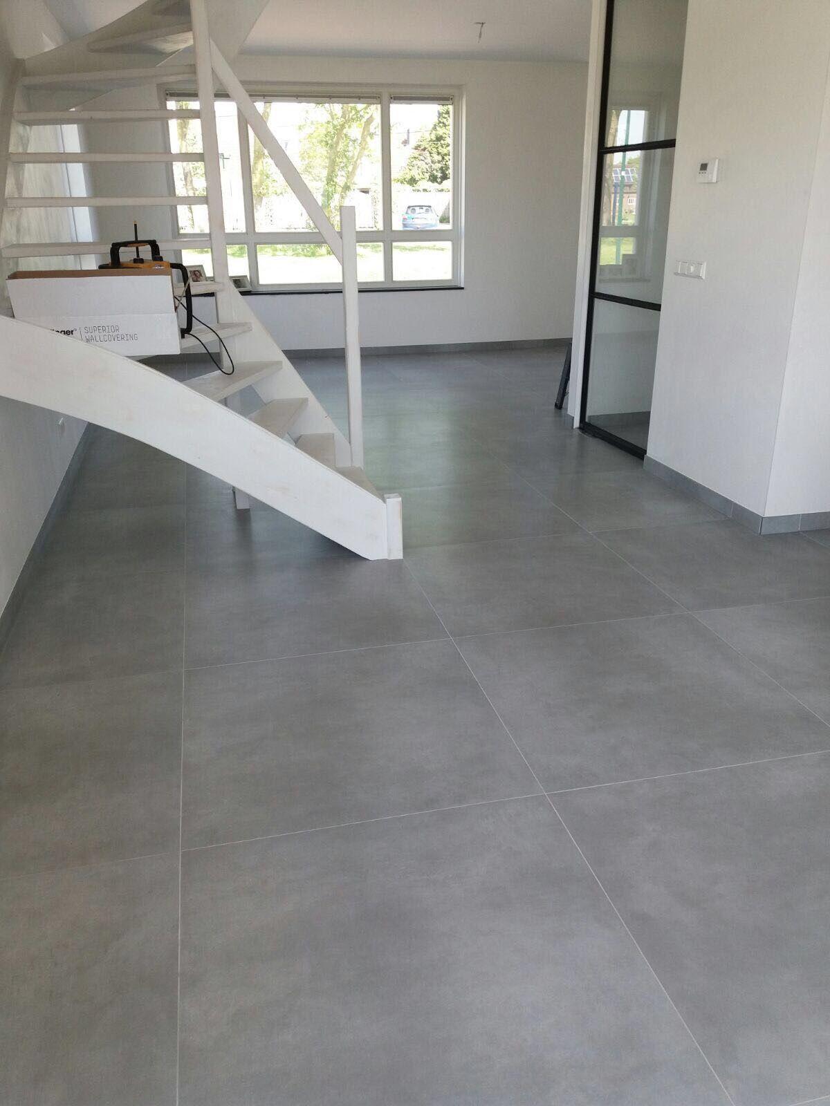 betonlook vloertegel 90x90 | vloertegels woonkamer | Pinterest