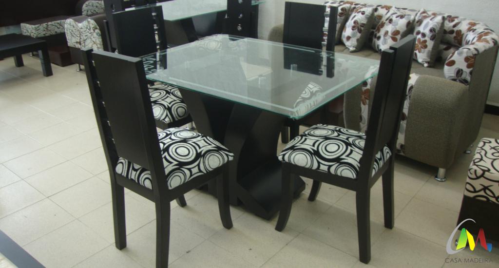 Comedor de cuatro puestos con silla peque a base p talo y for Comedores redondos de vidrio