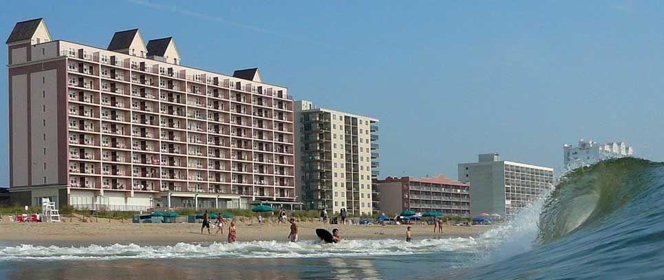 Ocean City Maryland Hotels Oceanfront Lodging Dunes Manor Beachfront Hotel Ocean City Maryland Ocean City Ocean City Md Hotels