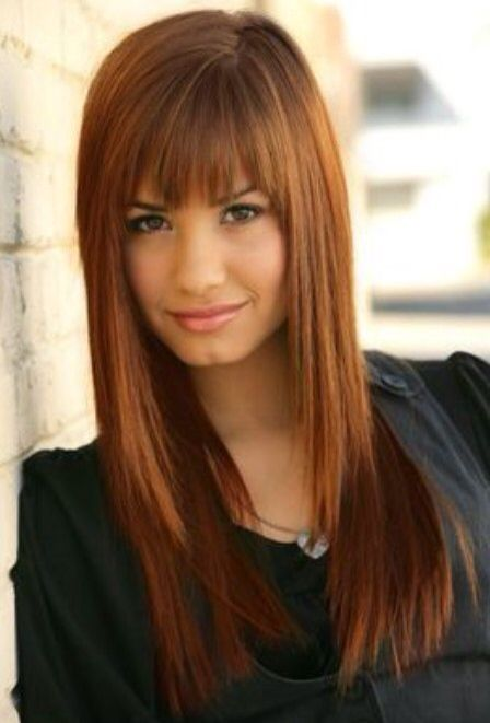 Hairstyle With Bangs New Pinjenna Younes On Demi Lovato Hairstyles  Pinterest  Demi