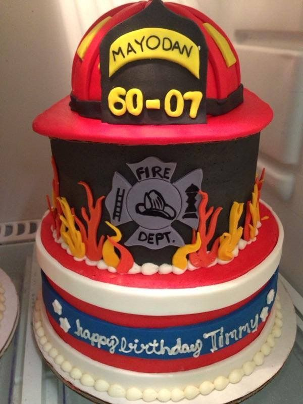 Firefighter Birthday Cake Fireman Hat Bake Me Happy Www