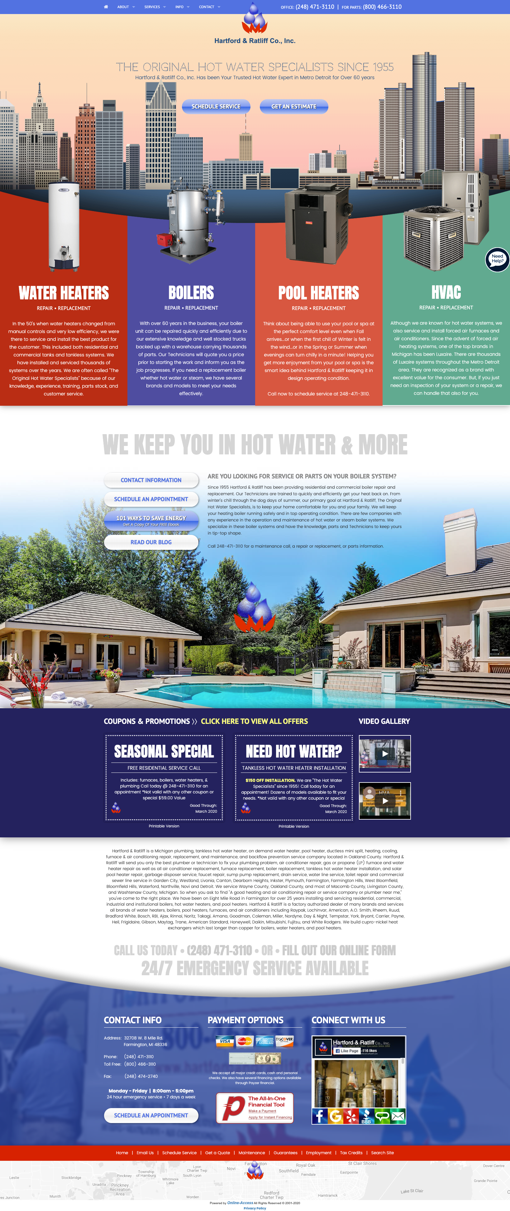 Locational Heating And Cooling Website Design Cityscape In 2020