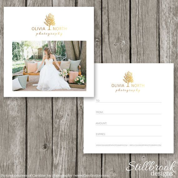 Travel Gift Vouchers Wedding Gifts: Photography Gift Certificate Template