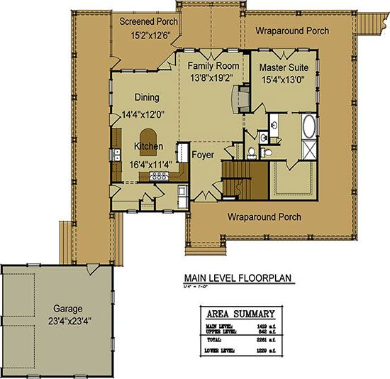 Open floor plan with wrap around porch open floor for House with wrap around porch floor plan