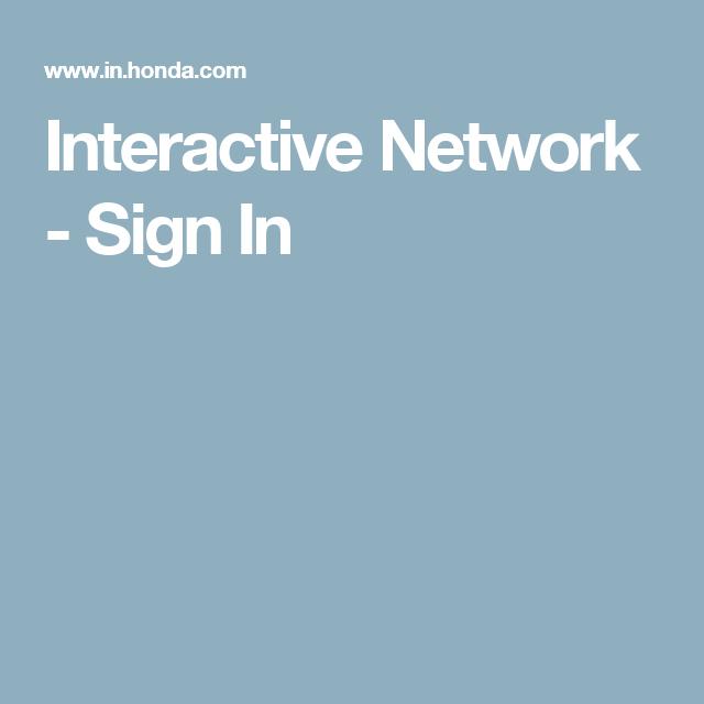 Interactive Network Sign In Honda Odyssey Pinterest Honda
