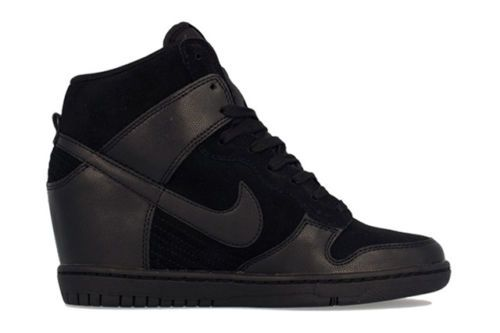 premium selection 3654b c3a4e New Nike Dunk Sky Hi Black Black High Top Wedge Celebrity Sneaker 9 US 40 5  EU   eBay