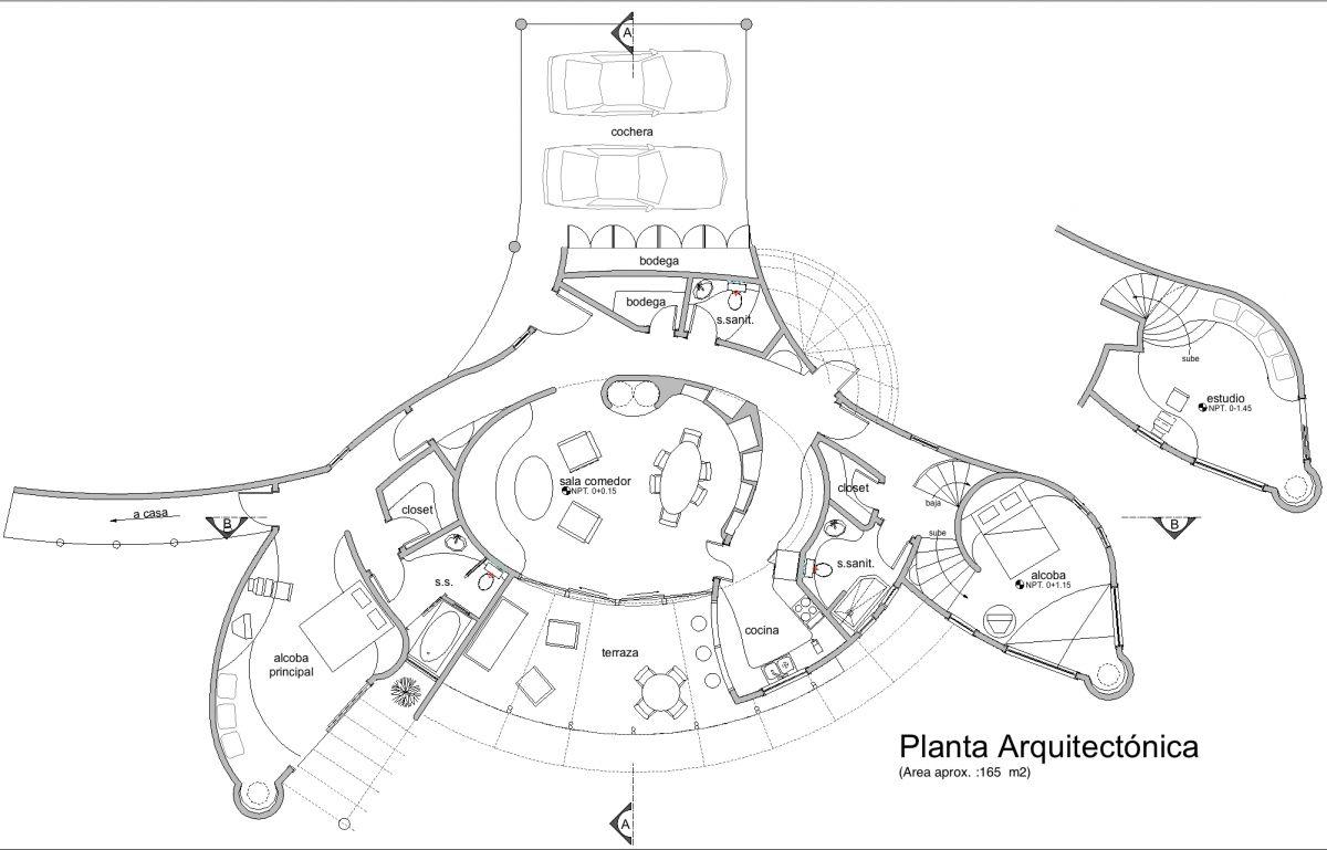 Planta Arquitectonica Maquetas Planos Croquis Arq