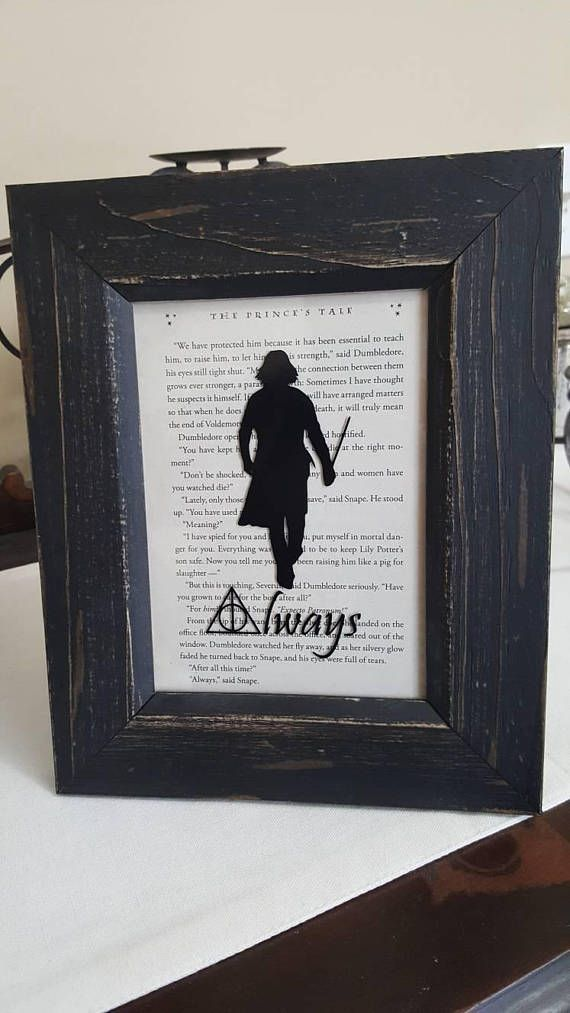 Harry Potter\'s Severus Snape Silouette over original book page ...