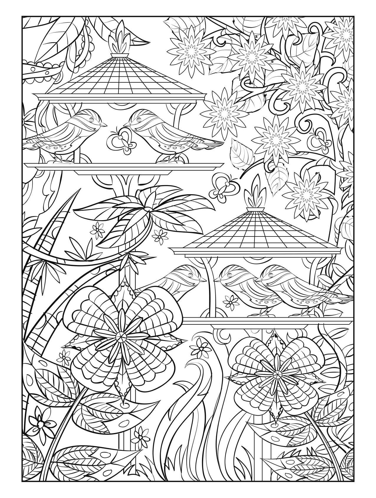Choose From A Variety Of Free Coloring Pages From Our Coloring Book Magical Gardens Freeprintab Bird Coloring Pages Cute Coloring Pages Fairy Coloring Pages