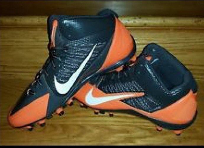 uk availability a2442 9ca2d Nike Alpha Pro 3 4 TD NFL Mens Football Cleats 12 Brown Orange Rare  Nike