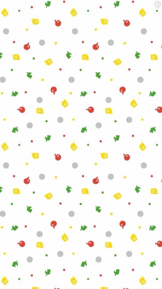 Seamless Animal Crossing New Leaf Background Animal Crossing Minimalist Animal Leaf Background