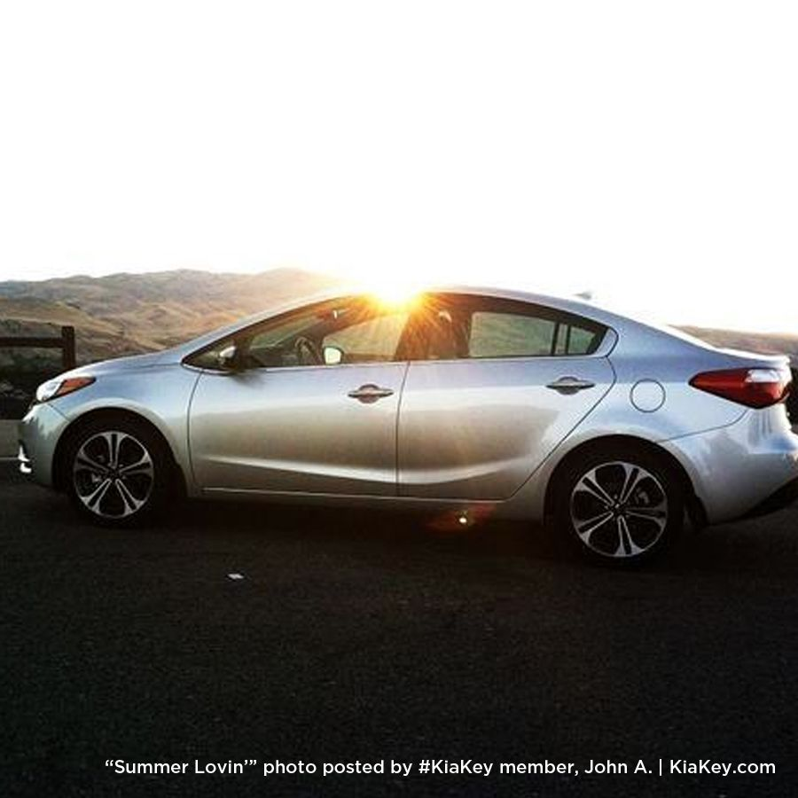 John A., that shot of your Kia Forte is a beauty. Be sure to share more at KiaKey! http://kiakey.com/activities/summer-love?utm_source=Show%20Stopper%20Forte%20Summer%20Love%20Activity%20October&utm_medium=KMA%20Pinterest&utm_term=Share%20More&utm_content=Forte%20Summer&utm_campaign=socialmedia